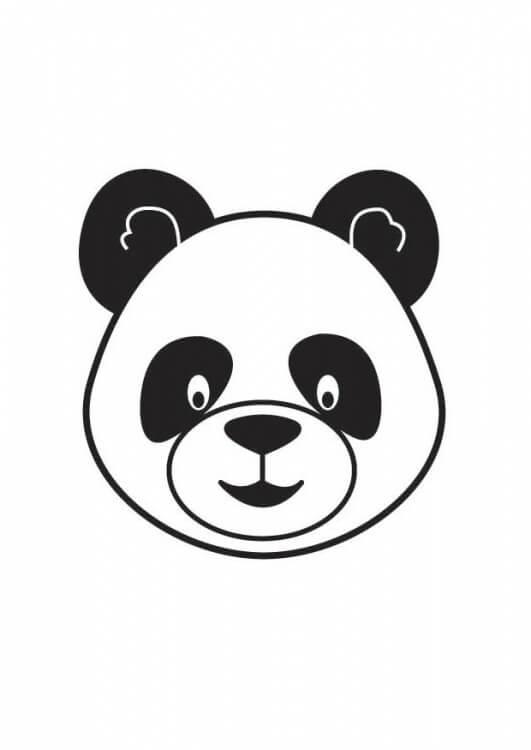cara de oso panda para dibujar