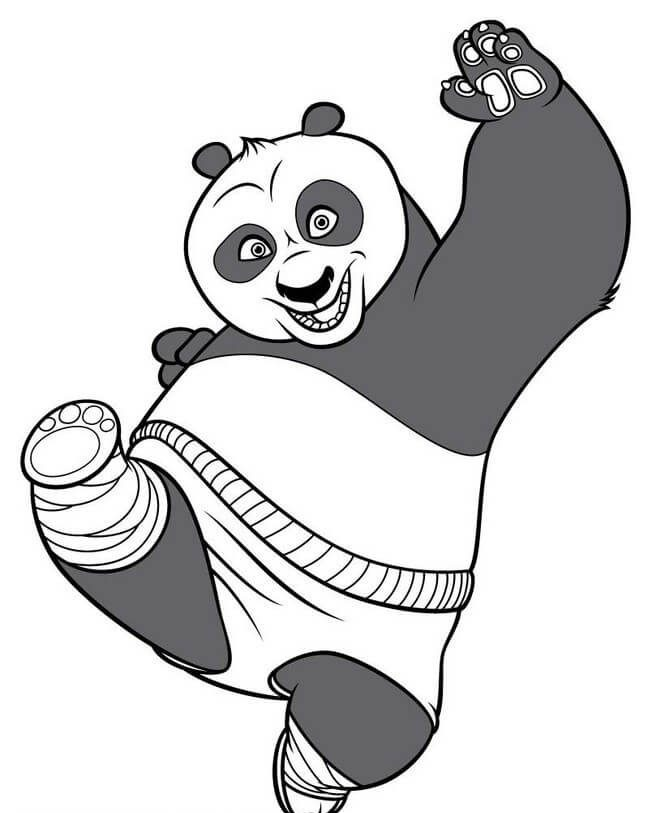 Dibujo de oso panda para colorear | DEOSOPANDA.COM