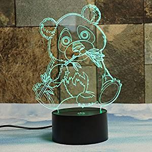 OSO PANDA GIGANTE EN 3D LAMPARA DE LED OPTICO