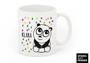hermosa taza de oso panda