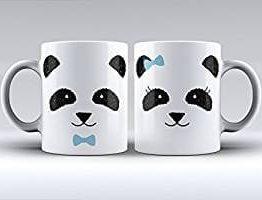 Pack de dos tazas de oso panda