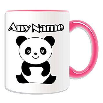 taza con imagen de oso panda varios colores