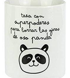 taza con diseño de oso panda